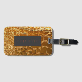 Aligator Skin Look Textured Luggage Tag