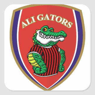 Aligator Square Sticker