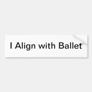 align sticker bumper sticker