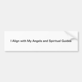 Align with Angels Bumper Sticker