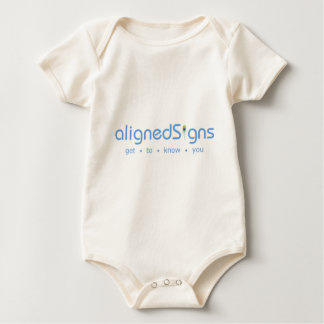 Aligned Signs Baby Bodysuits