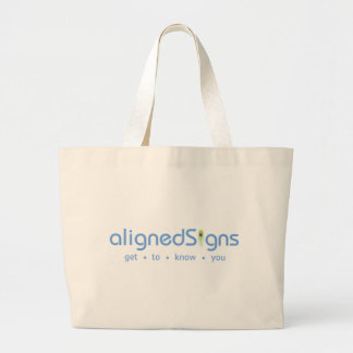 Aligned Signs Canvas Bags