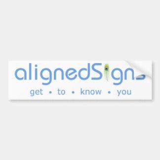 Aligned Signs Bumper Sticker