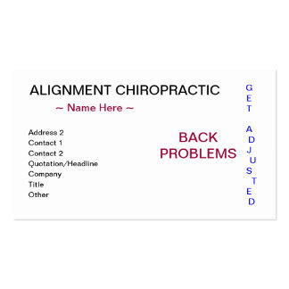 Alignment Chiropractic Business Card