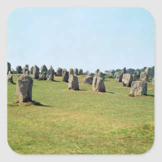 Alignment of standing stones, Megalithic Square Sticker