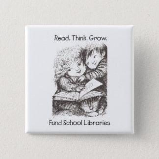 Aliki - Fund School Libraries - Square - Kids 2 Inch Square Button