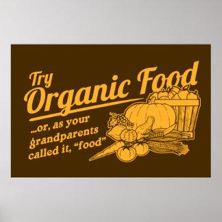 Aliment biologique - vos grands-parents l ont appe affiche