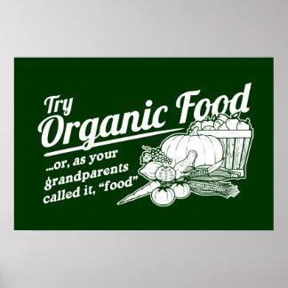 Aliment biologique - vos grands-parents l ont appe posters