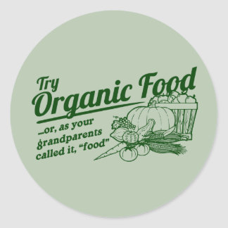 Aliment biologique - vos grands-parents l ont appe adhésif