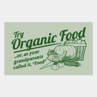 Aliment biologique - vos grands-parents l ont appe autocollants
