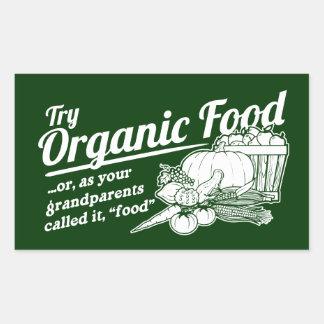 Aliment biologique - vos grands-parents l ont appe stickers rectangulaires