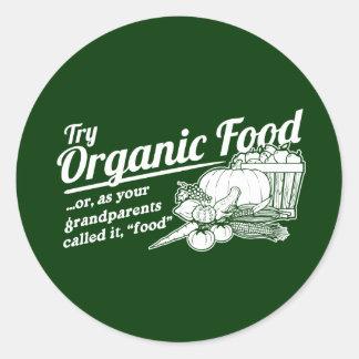 Aliment biologique - vos grands-parents l ont appe adhésif rond