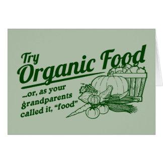 Aliment biologique - vos grands-parents l ont appe cartes