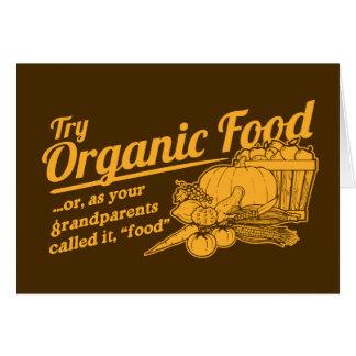 Aliment biologique - vos grands-parents l ont appe carte