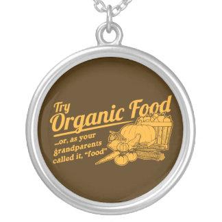 Aliment biologique - vos grands-parents l ont appe pendentif personnalisé