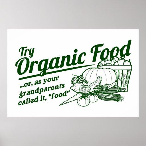 Aliment biologique - vos grands-parents l'ont appe posters