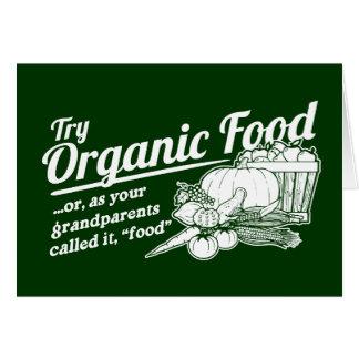 Aliment biologique - vos grands-parents l'ont appe carte de vœux