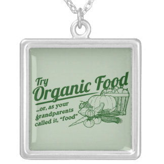 Aliment biologique - vos grands-parents l'ont appe pendentifs