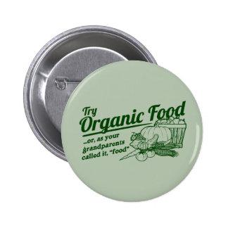 Aliment biologique - vos grands-parents l'ont appe macaron rond 5 cm