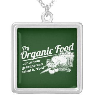Aliment biologique - vos grands-parents l'ont appe pendentif carré