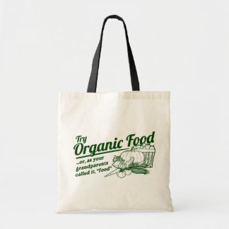 Aliment biologique - vos grands-parents l'ont appe sac en toile budget