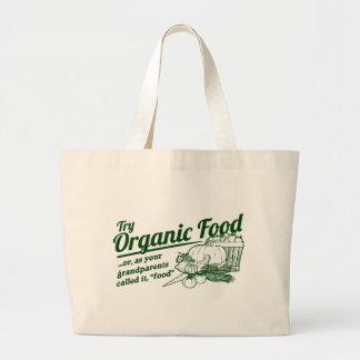 Aliment biologique - vos grands-parents l'ont appe sac en toile jumbo