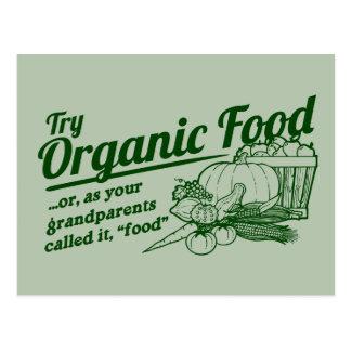 Aliment biologique - vos grands-parents l'ont carte postale