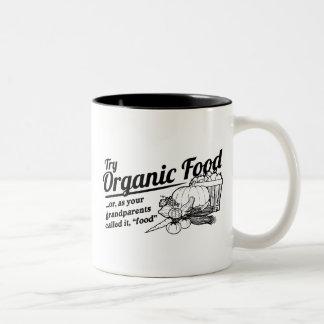 Aliment biologique - vos grands-parents l'ont mug bicolore