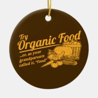 Aliment biologique - vos grands-parents l'ont ornement rond en céramique
