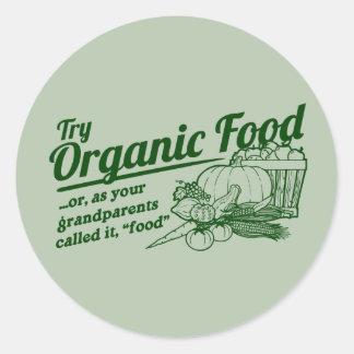 Aliment biologique - vos grands-parents l'ont sticker rond
