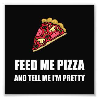 Alimentez-moi la pizza assez photographe