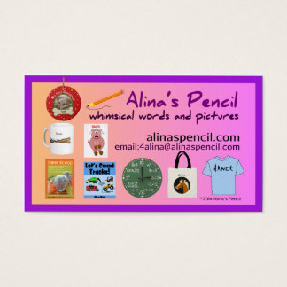 Alina's Pencil Publishing 2014 Business Card