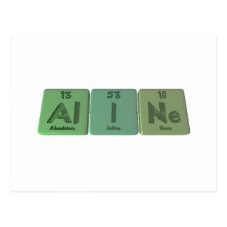 Aline as Aluminium Iodine Neon Postcard