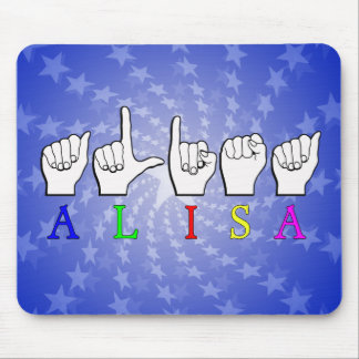 ALISA FINGERSPELLED ASL NAME SIGN MOUSE PAD
