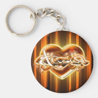 Alisha Basic Round Button Keychain