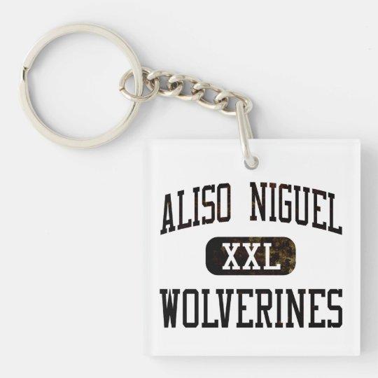 Aliso Niguel Wolverines Athletics Single-Sided Square Acrylic Keychain