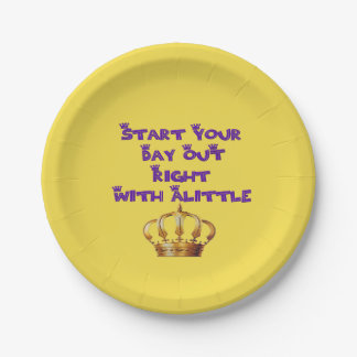 Alittle Crown 7 Inch Paper Plate
