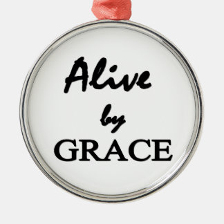 Alive by GRACE Silver-Colored Round Ornament
