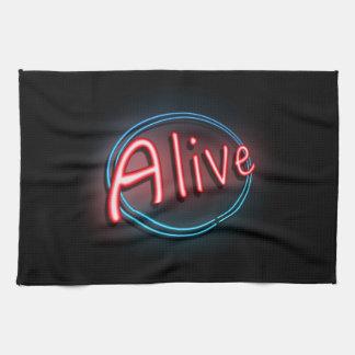 Alive concept. kitchen towel