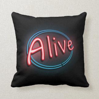 Alive concept. throw pillow