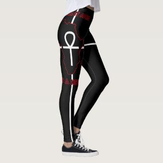 ALKEBULAN - ANKH IS A KEY (Black Only) Leggings