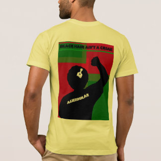ALKEBULAN - BLACK HAIR AIN'T A CRIME v2 BACK T-Shirt