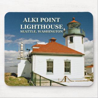 Alki Point Lighthouse, Seattle Washington Mousepad