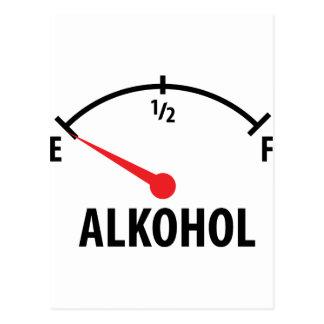 Alkohol Tankanzeige Postcard