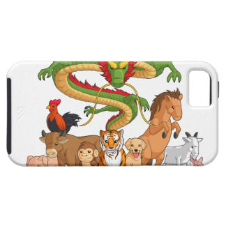 All 12 Chinese Zodiac Animals Together iPhone 5 Case