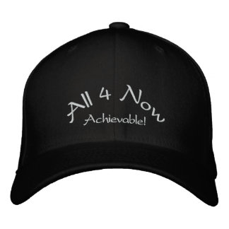 All 4 Now Achievable Embroidered Hats