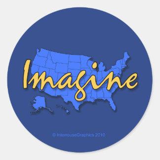 All 50 States Blue Sticker
