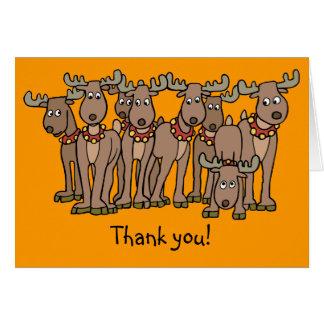 All 8 of Santa's Reindeer Card