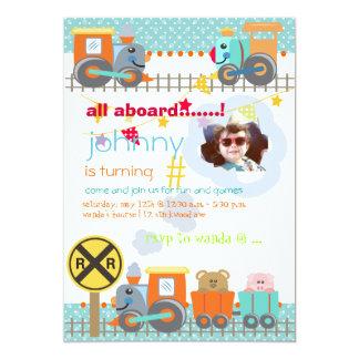 All aboard, choo choo/ birthday party invitations