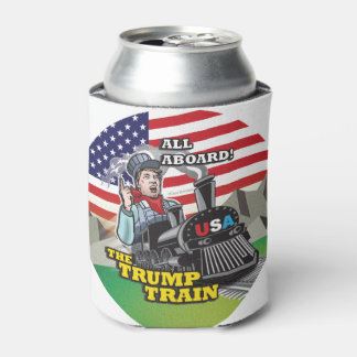 ALL ABOARD THE TRUMP TRAIN!!! USA Nationalism MAGA Can Cooler